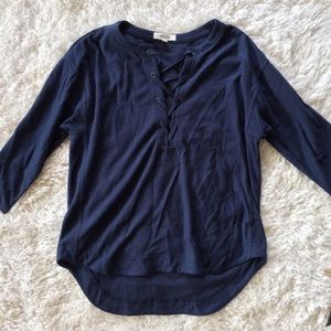 Madewell - Lace up sweater